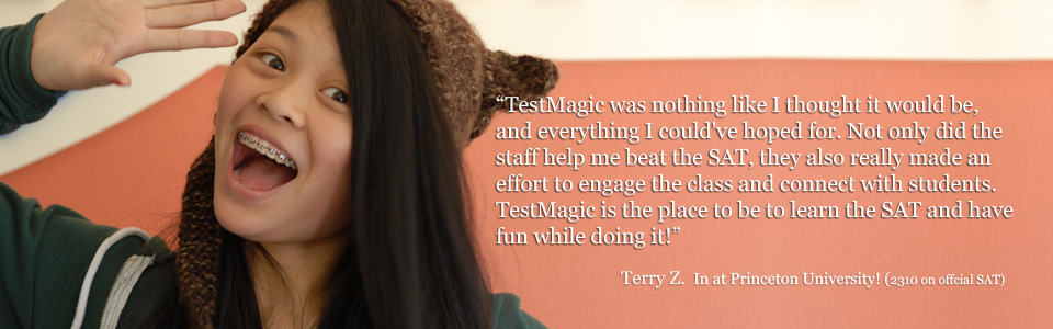 TestMagic SAT student Terry gives her review of TestMagic SAT prep class.