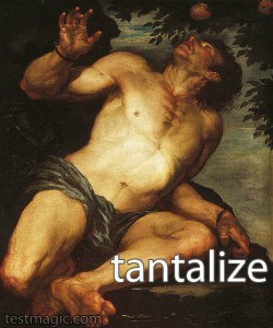 Tantalus depicted in a painting.